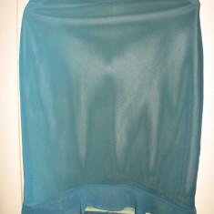 Fusta Evidence turquoise Mar M, Marime: M, Culoare: Din imagine, Asimetrica, Creion, Poliester