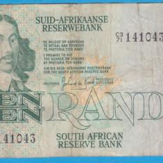 (1) BANCNOTA AFRICA DE SUD - 10 RAND (1978-1993)