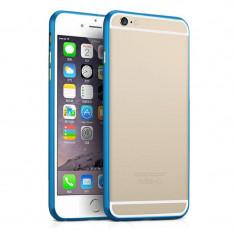 """Bumper aluminiu albastru Iphone 6 Plus 5.5"""" + folie ecran"""