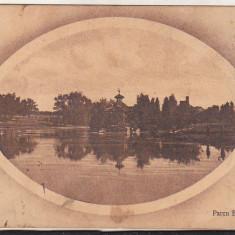 Bnk cp Craiova - Parcul Bibescu - uzata 1912 - Carte Postala Oltenia 1904-1918, Circulata, Printata