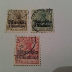 Germania/oficiul din maroc/ 1911-19 uzuale/ 3v. stampilate