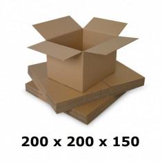 Cutie carton 200 x 200 x 150, natur, ondula C