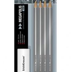 Creion grafit cu radiera pentru desen