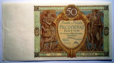 66. POLONIA 50 ZLOTYCH ZLOTI 1929 SR. 349 foto