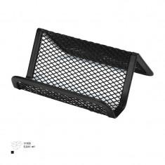 Suport metalic mesh pentru carti de vizita - Biblioraft