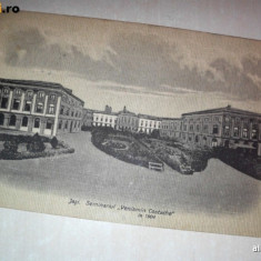 IASI, SEMINARUL VENIAMIN COSTACHE, 1904 //carte postala - Carte Postala Moldova 1904-1918, Stare: Circulata, Tip: Fotografie