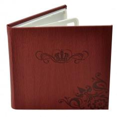 Carcasa 4 CD DVD WAX, piele eco, model Coroana