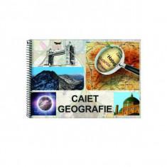 Caiet geografie A4 cu spira 24 file Daco