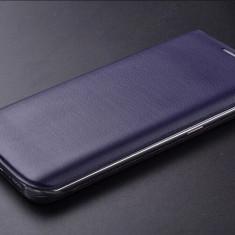Husa Samsung Galaxy S6 Edge Flip Case Neagra - Husa Telefon Samsung, Negru, Piele Ecologica, Cu clapeta, Toc