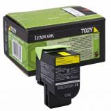 Toner original Lexmark 70C20Y0 Yellow