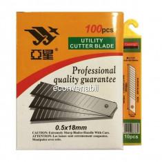 Set 100 Rezerve Lame de Cutter 0.5 x 18mm