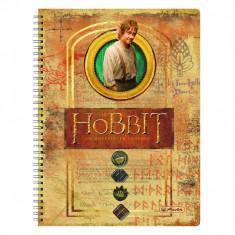 Caiet Herlitz 70 de file cu spirala A4 patratele motiv Hobbit