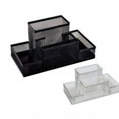 Suport din plasa metalica cu 4 compartimente pentru birou - Biblioraft