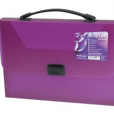 Servieta plastic cu clema Vivid Colors A4 - Mapa Papetarie