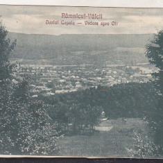 Bnk cp Ramnicu Valcea - Dealul Capela - Vedere spre Olt - uzata - Carte Postala Oltenia dupa 1918, Circulata, Printata