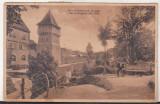 Bnk cp Sibiu - Strada Harteneck cu parc - circulata 1932, Printata