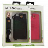 Husa pentru iPhone 5 Shang, Vinyl, Cu clapeta, Apple