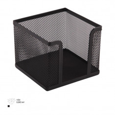 Suport metalic cub cu plasa pentru notite - Biblioraft