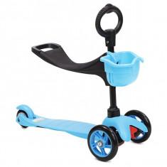 trotineta copii scooter blue multifunctionala 3 in 1