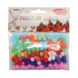 Mini pom-pom multicolor - set 200 bucati