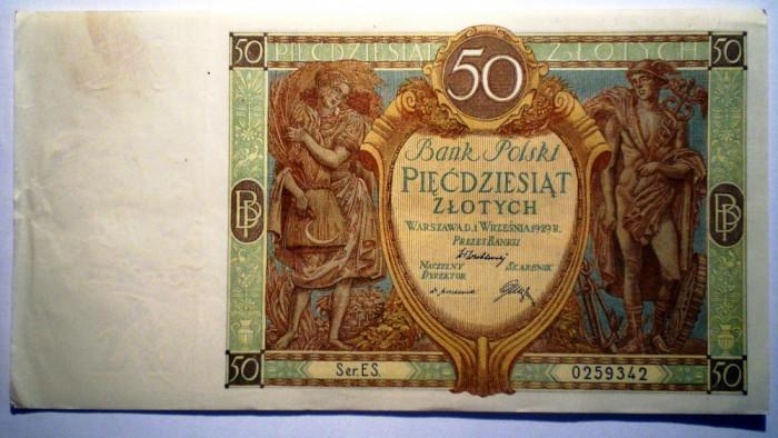 79. POLONIA 50 ZLOTYCH ZLOTI 1929 SR. 342
