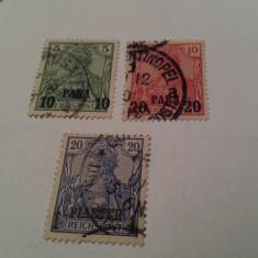 Germania/oficiul din turcia/ 1900 uzuale/ 3v. stampilate