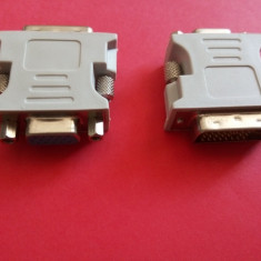 Adaptor DVI - VGA PC / Mufa Adaptoare DVI-I(Duallink)- VGA, Mama - Adaptor interfata PC