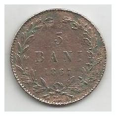 ROMANIA 5 BANI 1867 WATT [1] Livrare in cartonas - Moneda Romania, Cupru (arama)