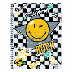Caiet Herlitz cu spirala A4 70 file motiv Smiley World