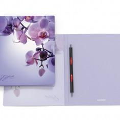 Dosar plastic cu sina flexibila Romantique/Night Illusion, A4, 17 mm