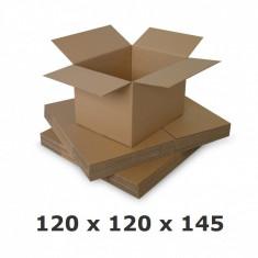 Cutie carton 120 x 120 x 145, natur, ondula C
