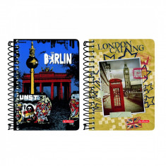 Bloc Notes Herlitz spirala 200 file City Trips - Caiet