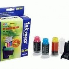 Kit complet de refill cerneala COLOR cartuse originale HP10 - Kit refill imprimanta