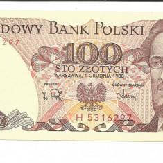 @bancnota- POLONIA 100 ZLOTI ZLOTYCH 1988 UNC