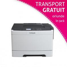 Imprimanta laser color Lexmark CS410N, USB, AppleTalk