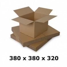 Cutie carton 380 x 380 x 320, natur, ondula C