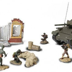 Set tanc M10 + soldati + ruina + diverse France 1944 FORCES OF VALOR 1:72 - Macheta auto