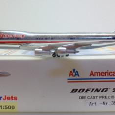 Macheta avion Boeing 747-100 American Airlines SCHUKO 1:500 - Macheta Aeromodel