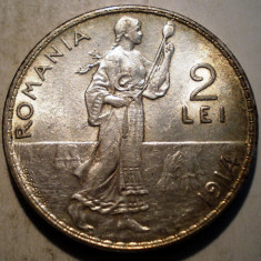 R.082 ROMANIA CAROL I 2 LEI 1914 XF ARGINT 10g - Moneda Romania
