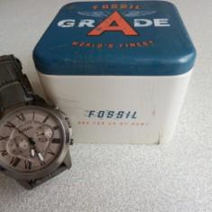 Ceas Fossil Grant - Barbatesc - Ceas barbatesc Fossil, Fashion, Quartz, Piele, Analog, Diametru carcasa: 44