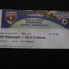 FC Voluntari-Universitatea Craiova (25.04.2016)/bilet de meci