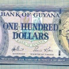 A 608 BANCNOTA-GUYANA - 100 DOLLARS -ANUL2006 -SERIA007680-starea care se vede