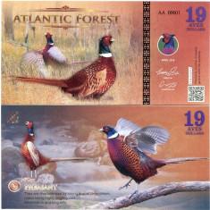 ATLANTIC FOREST- 19 AVES 2016- UNC!! - bancnota america