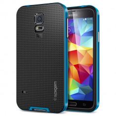 HUSA NEO HYBRID SAMSUNG GALAXY S5 BONUS FOLIE ECRAN - Husa Telefon Samsung, Albastru