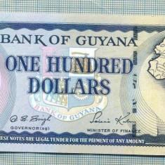 A 624 BANCNOTA-GUYANA - 100 DOLLARS -ANUL(1999)-SERIA 862124-starea care se vede