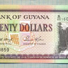 A 614 BANCNOTA-GUYANA - 20 DOLLARS -ANUL(1996) -SERIA160859-starea care se vede