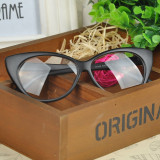 Ochelari de dama Cat Eyes classic lentila transparenta fara dioptrii - NEGRU MAT