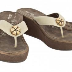 Sandale piele Olukai model Melia culare Tapa/Java 37.5, Din imagine