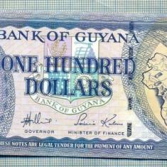 A 615 BANCNOTA-GUYANA - 100 DOLLARS -ANUL2006 -SERIA007671-starea care se vede