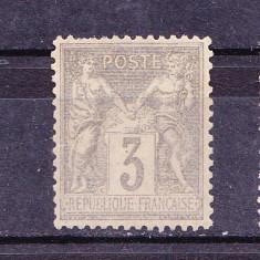 Timbre FRANTA 1877 -1900 = PACE SI COMERTZ, DANT. 14 X 13,1/2, NEST. FARA GUMA
